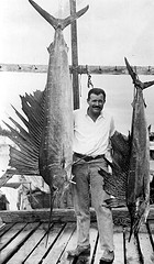 Hemingway with marlins